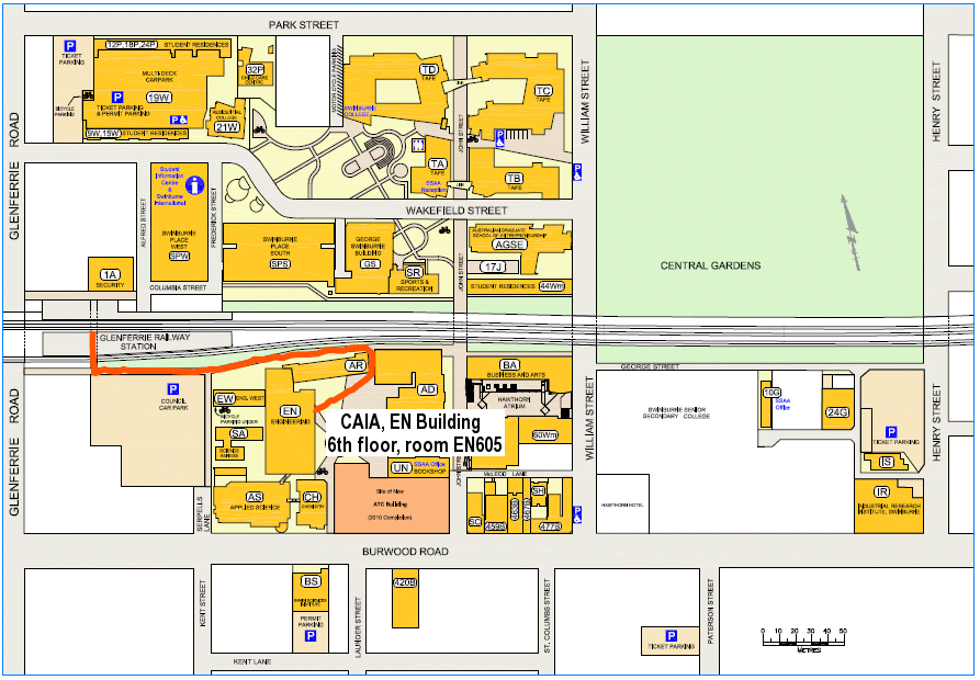 Map of Hawthorn campus